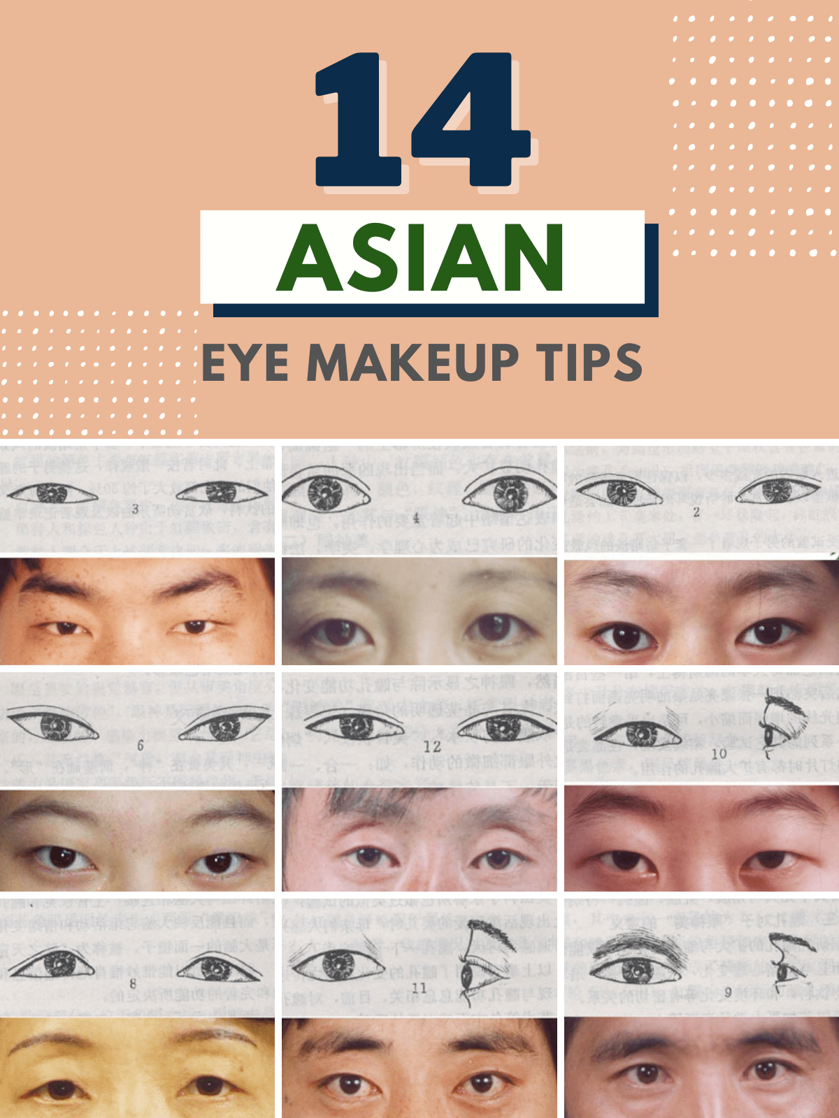 different types of asian eyes and makeup tips
