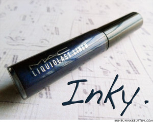 MAC Liquidlast Liner in Inky Review Swatches_1