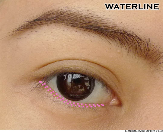 waterline placement on asian eye