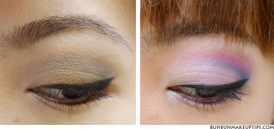 eyeshadow tutorial for asian eye part1 and part2