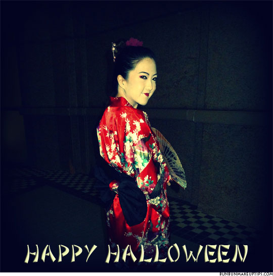 happy halloween from the geisha what were you this year bun bun makeup tips and beauty product reviews