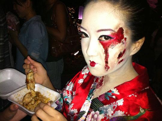 Halloween Geisha Costume, Hair and Makeup Tutorial | Bun Bun ...