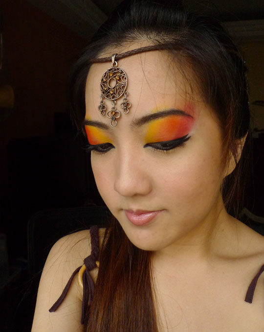 Native American Inspired Look For Makeup Geek Weekly Challenge Bun