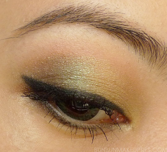 MAC-Free-To-Be,-MAC-Gorgeous-Gold,-L'Oreal-Emerald-Lame,-Sugarpill-Midori,-NYX-Dark-Brown_1