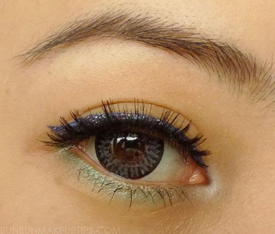 Makeup-Look_Bourjois-glitter-liner,-Sugarpill-midori,-Sugarpill-tako,-false-lashes