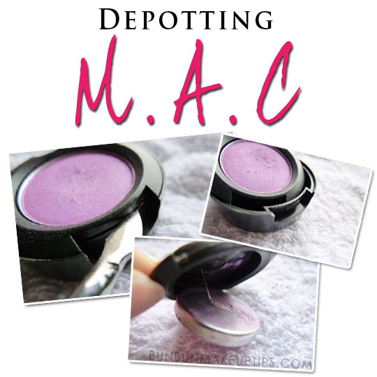 how do you depot mac eyeshadows