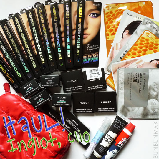 Makeup-Haul-Inglot-Eyeshadow-Inglot-Lipstick-Inglot-Lip-Liner-Inglot-Gel-Liner-Clio-Eyeshadow-Liquid-Latex-Fake-Blood-Singapore