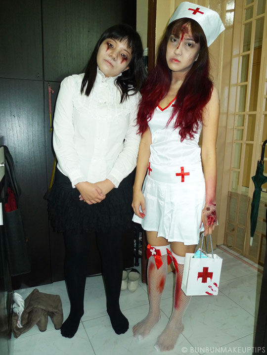 Halloween-Zombie-Nurse-Costume-Makeup-Tutorial-6