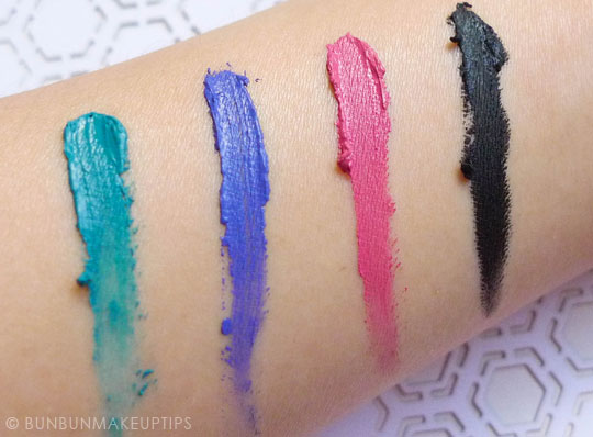 Inglot-Gel-Liner-72-77-82-87-Review-Photos-Swatches