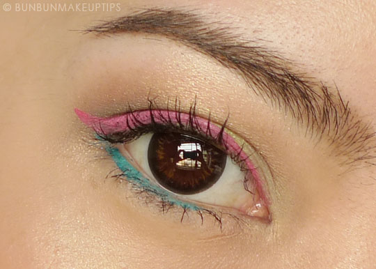 Inglot-Gel-Liner-72-Pink-Review-Photos-Swatches-EOTD