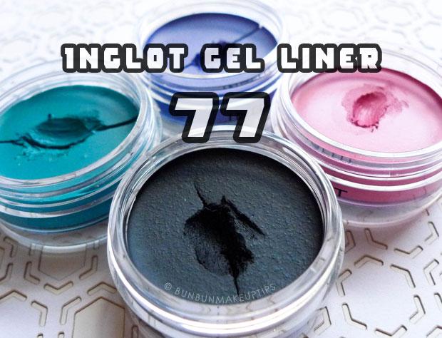 Inglot-Gel-Liner-77-Black-Gel-Liner-Review-Swatches-Comparison