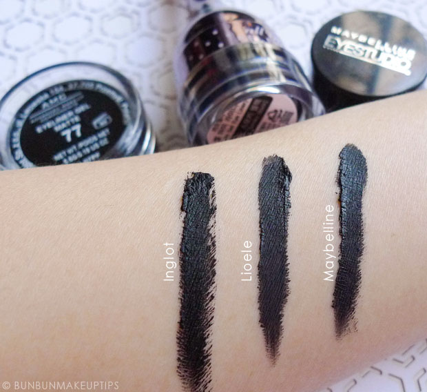 Inglot-Gel-Liner-77-Black-Gel-Liner-Review-Swatches-Comparison_5