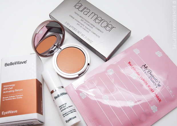 Vanity-Trove-Review-March-2013-favorites-bellewave-my-beauty-diary-mask-laura-mercier-creme-compact