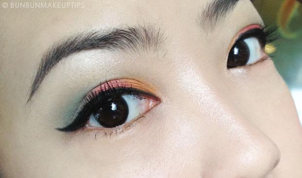 Makeup-Look_Maybelline-Tattoo-Eyeshadow-Fierce-and-Tangy,-Edgy-Emerald,-Urban-Decay-Woodstock,-Naris-Up-Eyeliner,-Lioele-Gel-Liner,-Lioele-Auto-Eyebrow-Pencil,-Lioele-Volume-Curling-Mascara