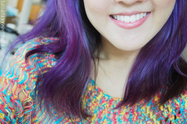 smile trial with veneers at orchard scotts dental, purple hair