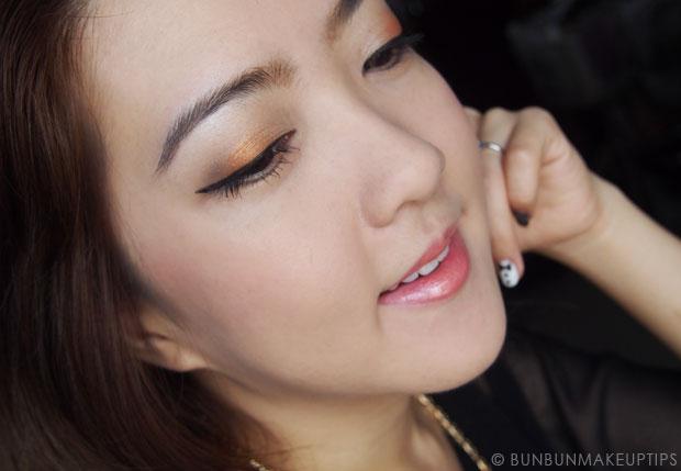 Makeup-Tutorial--Golden-Orange-Eyes-&-Lips-and-Kerastase-Hair-Products_6