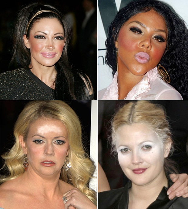 celebrity-makeup-mistakes-too-much-makeup-white-cast-white-powder