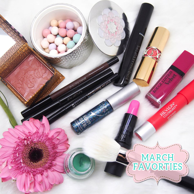 March-Favorites-Benefit-Guerlain-Chanel-YSL-Bourjois-Revlon-Hakuhodo-Urban-Decay-MAC-Lioele-Shu-Uemura-Essence-3
