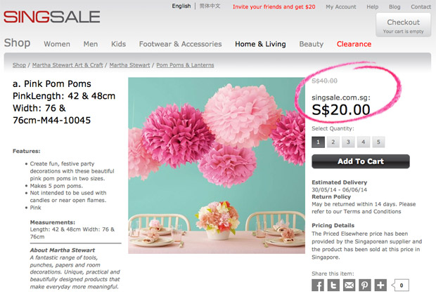 SINGSALE-Frenzy-Sale-2014-Blogger-Review_Pink-Pom-Poms-2.1