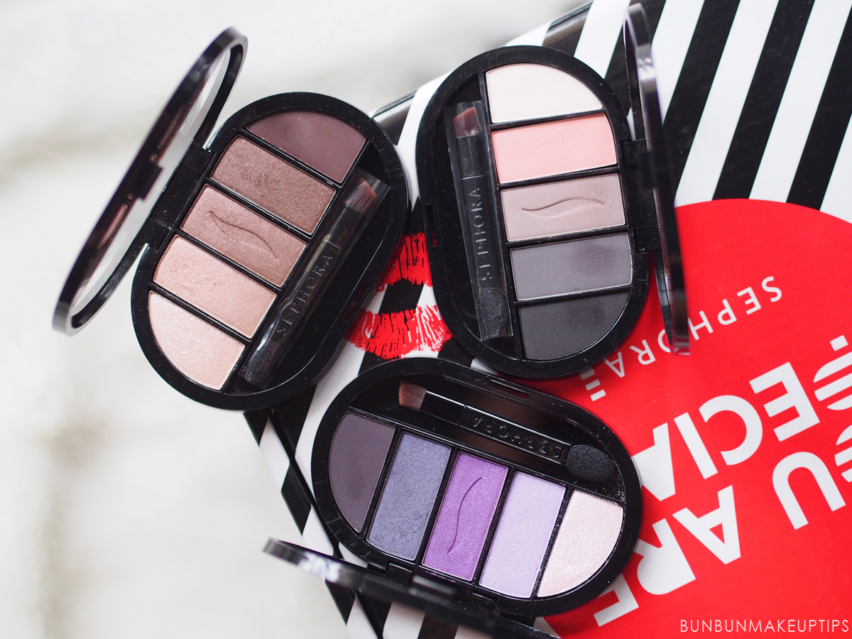 Review Sephora Collection Colorful 5 Eyeshadow Palettes