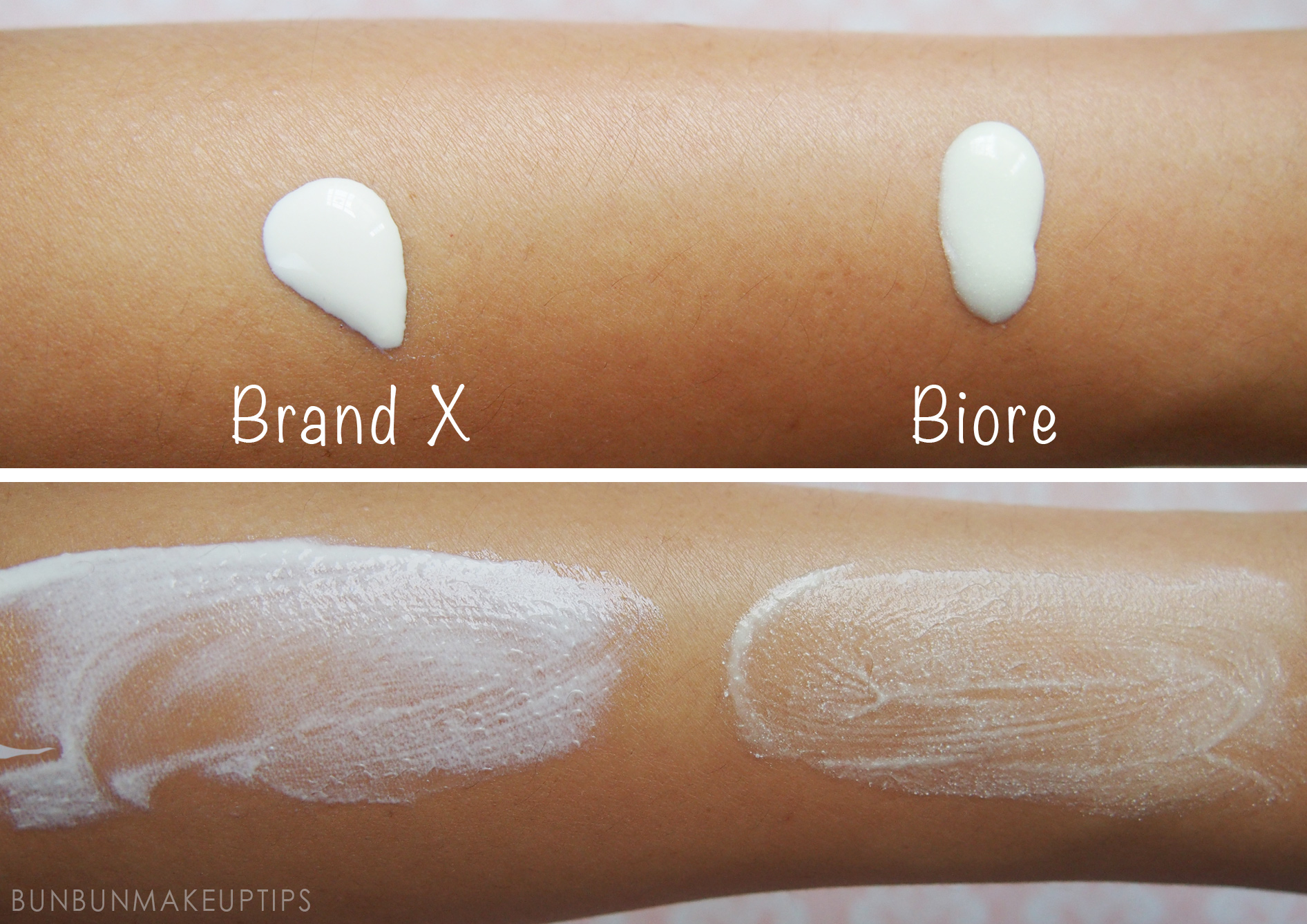 Biore-UV-Aqua-Rich-Watery-Gel-Sunscreen-Swatch-Comparison_5