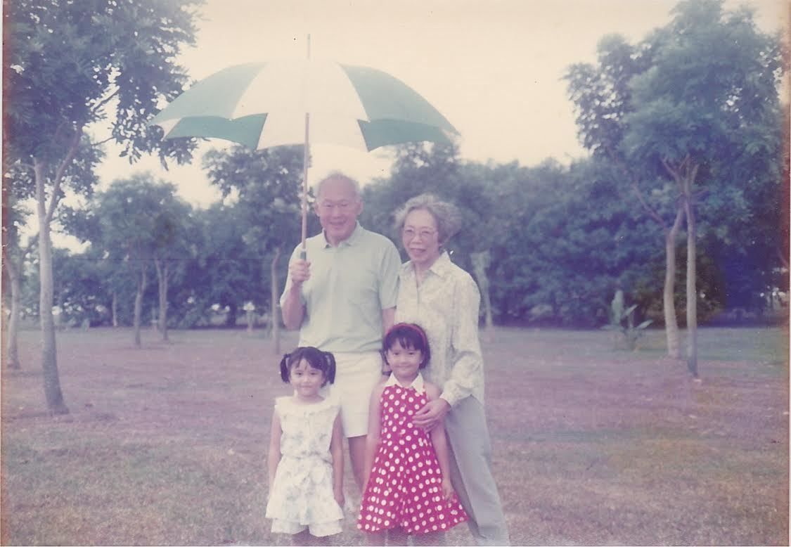 Photo with Mr & Mrs Lee Kwan Yew