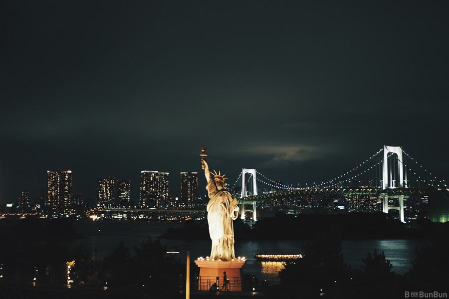 Japan-Yokohama-Tokyo_Odaiba-Daiba-Rainbow-Bridge_1