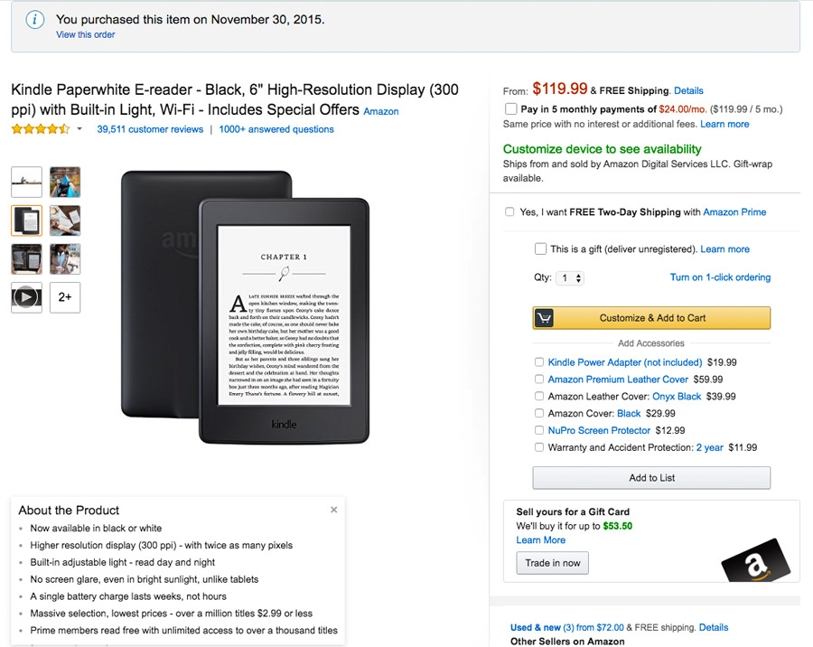 How To Ship A Kindle Paperwhite Wi-Fi From USA To Singapore