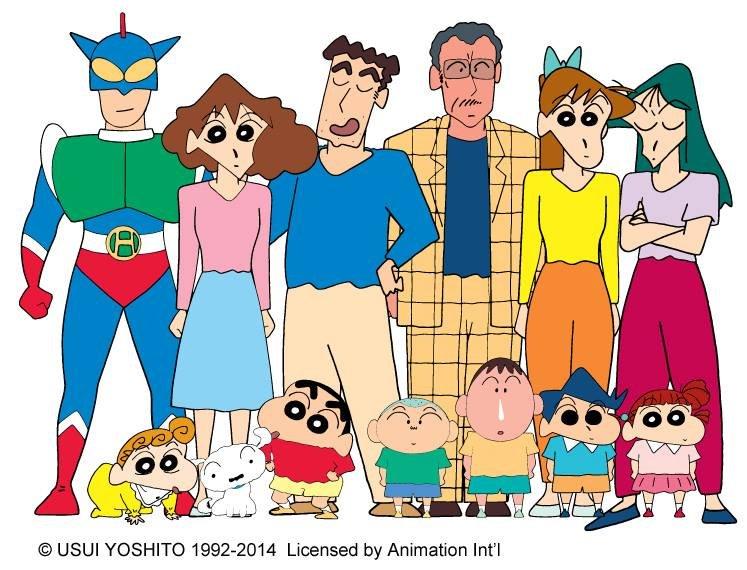 crayon shinchan family friends