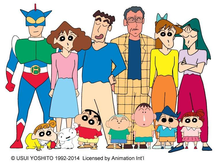 crayon shinchan family friends