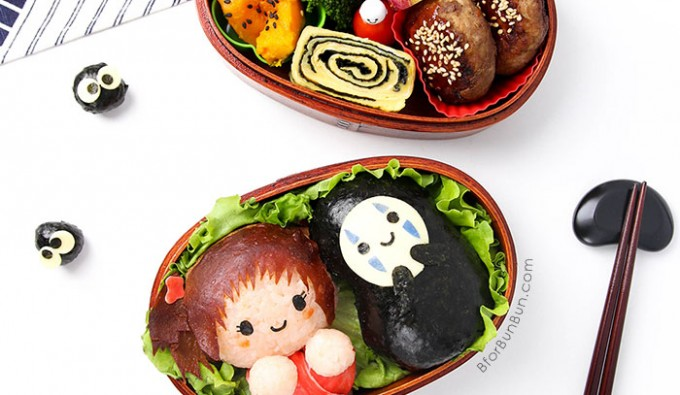 A tutorial on how to make Spirited Away characters from food.