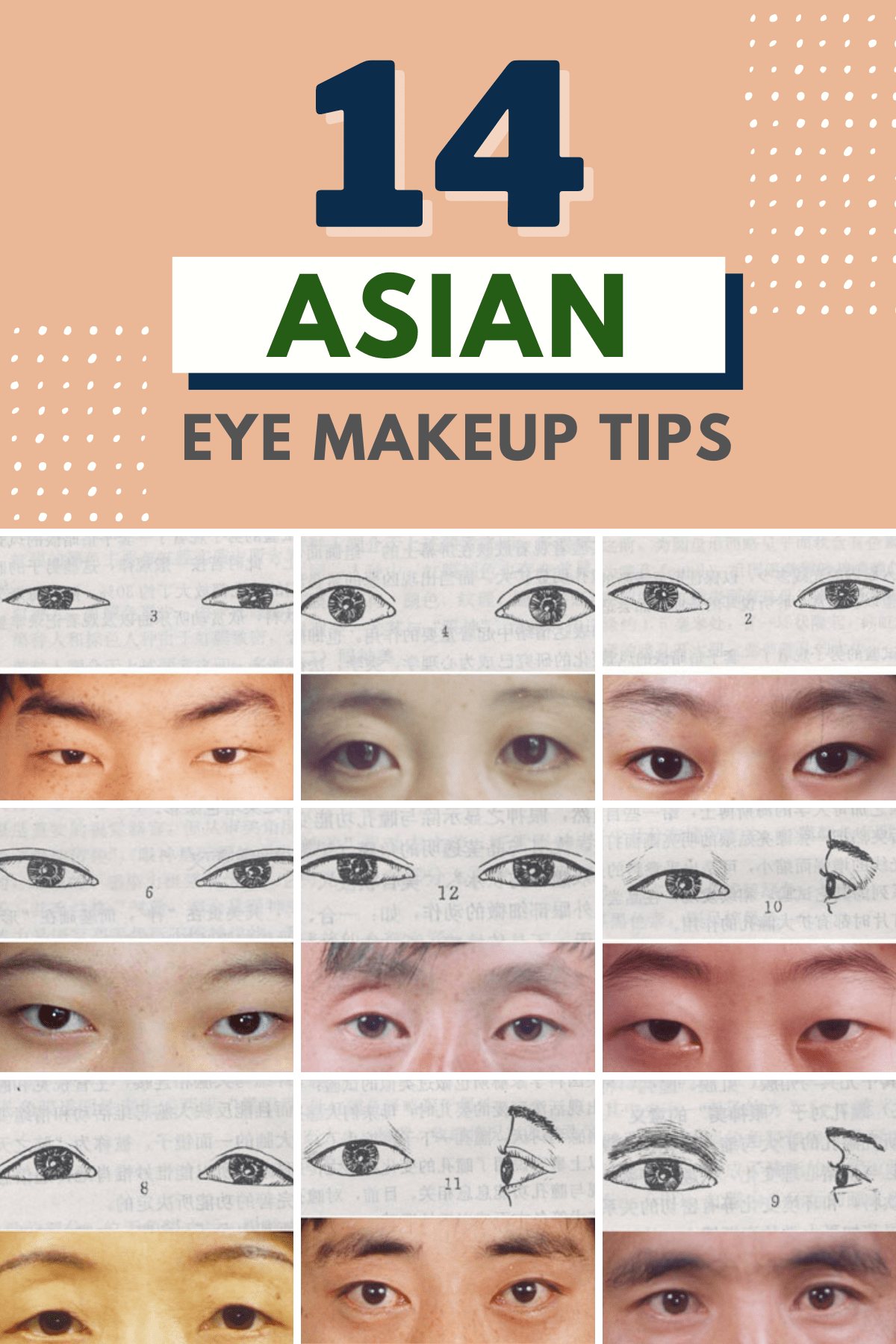 different types of asian eye makeup tips